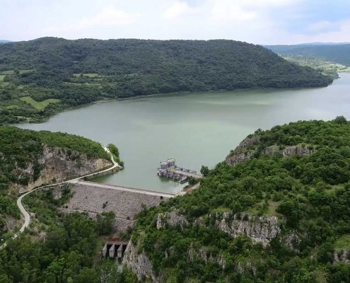 Grliško jezero - brana