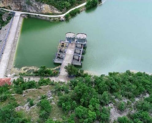 Водозахват на Грлишком језеру код бране